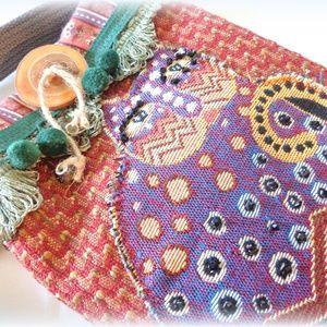 Handmade Artsy boho Cat Bag